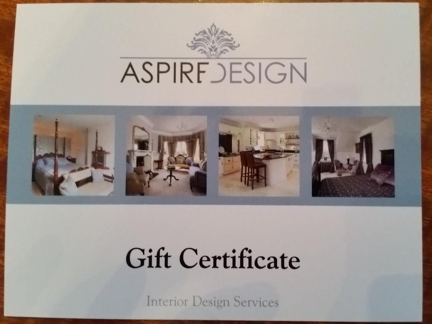 Home renovate voucher aspire design for Certification in interior design